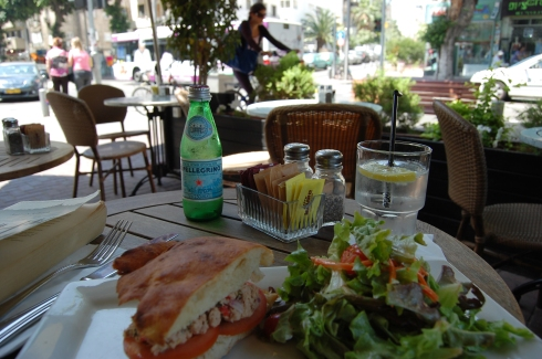 A Fine Lunch at a Sidewalk Cafe