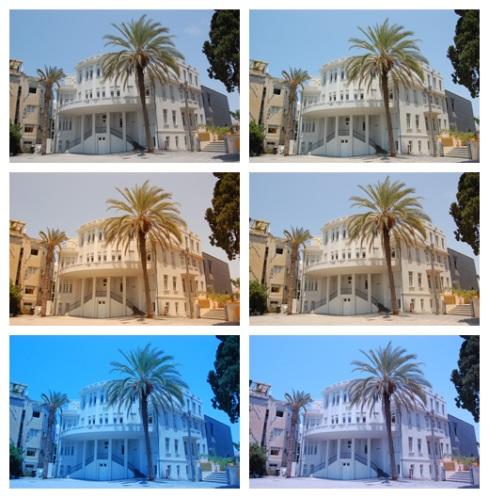 White Balance Test of Tel Aviv City Hall