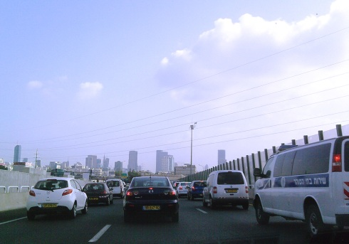 Morning Rush Hour on the Ayalon Freeway
