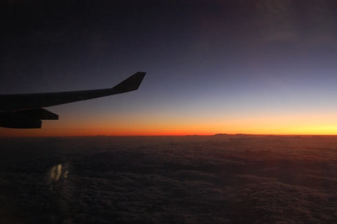 Sunrise between Tel Aviv and Frankfurt