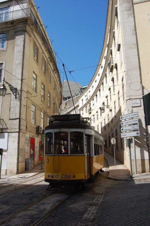 Yellow Tram in Lisbon