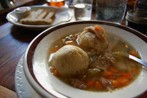 Matzoh Ball Soup at Bubby's