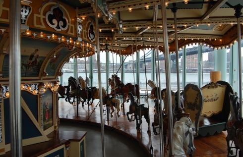 Vintage carousel in Brooklyn