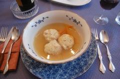 homemade matzoh ball soup