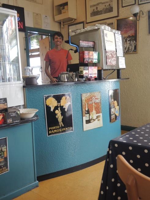 Mocha Berry Café in Glastonbury town center.