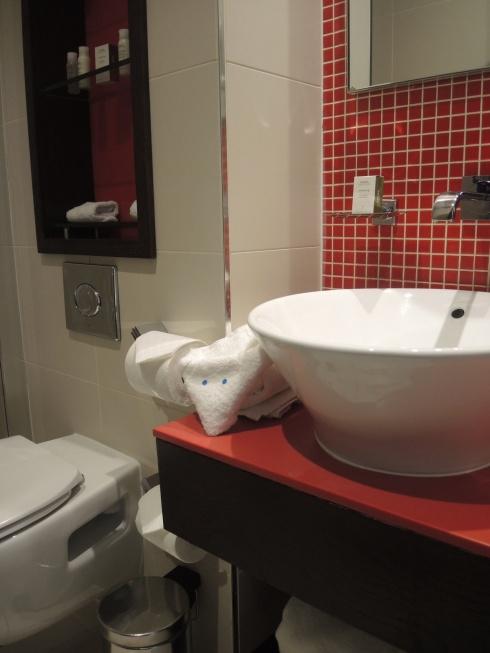 The bathroom even has a heated towel rail!