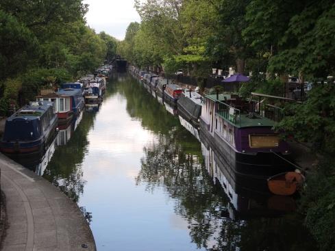 Boats Along Grand Union Canal